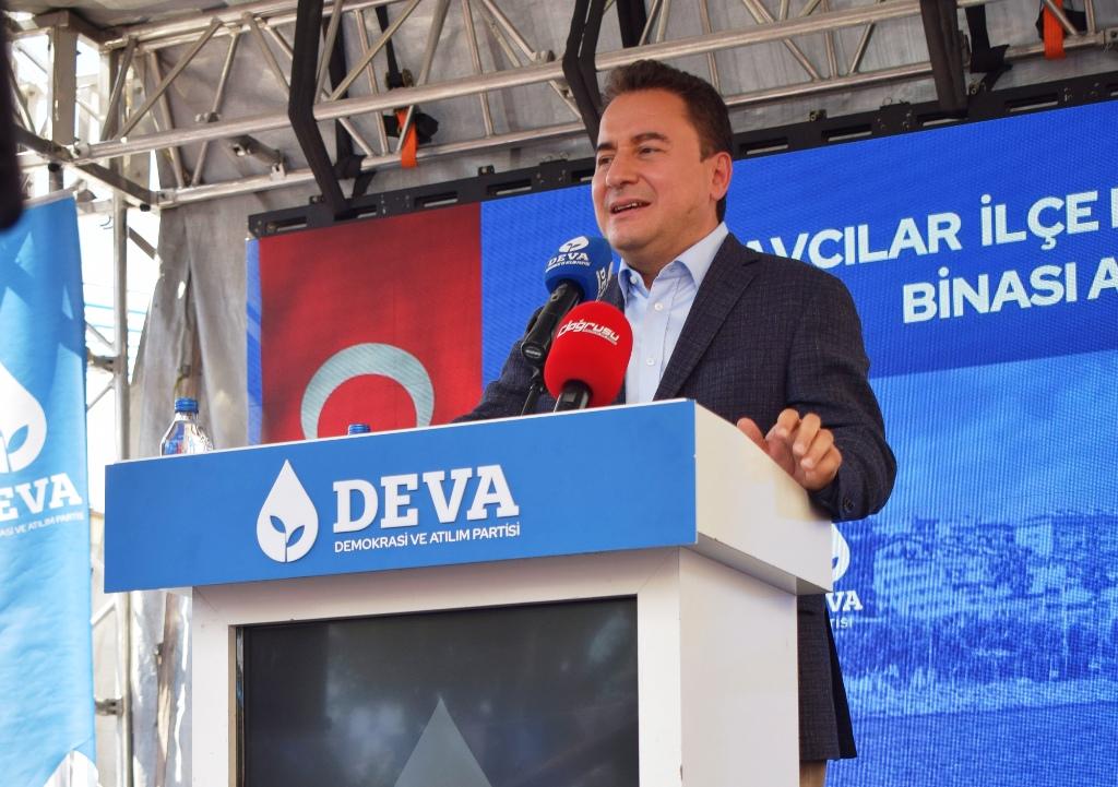 DEVA Partisi Genel Başkanı Ali Babacan, Avcılar ilçe binasını açtı